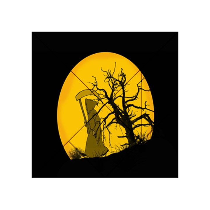 Death Haloween Background Card Acrylic Tangram Puzzle (4  x 4 )