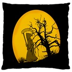 Death Haloween Background Card Large Cushion Case (Two Sides) Back