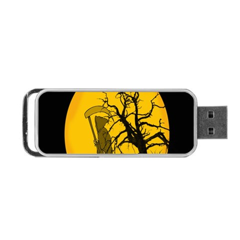 Death Haloween Background Card Portable USB Flash (Two Sides)