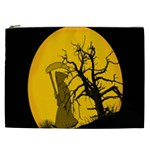 Death Haloween Background Card Cosmetic Bag (XXL)  Front