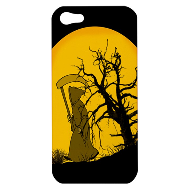 Death Haloween Background Card Apple iPhone 5 Hardshell Case