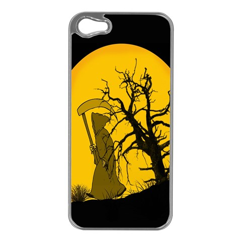 Death Haloween Background Card Apple iPhone 5 Case (Silver)