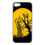 Death Haloween Background Card Apple iPhone 5 Case (Silver) Front