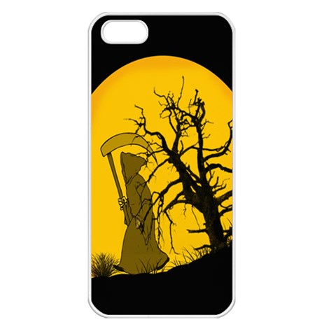 Death Haloween Background Card Apple iPhone 5 Seamless Case (White)