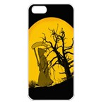 Death Haloween Background Card Apple iPhone 5 Seamless Case (White) Front