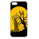 Death Haloween Background Card Apple Seamless iPhone 5 Case (Clear) Front