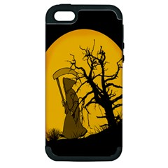 Death Haloween Background Card Apple iPhone 5 Hardshell Case (PC+Silicone)