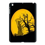 Death Haloween Background Card Apple iPad Mini Case (Black) Front