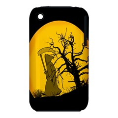 Death Haloween Background Card Apple iPhone 3G/3GS Hardshell Case (PC+Silicone)