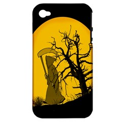 Death Haloween Background Card Apple iPhone 4/4S Hardshell Case (PC+Silicone)