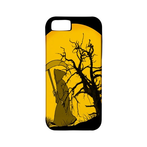 Death Haloween Background Card Apple iPhone 5 Classic Hardshell Case (PC+Silicone)