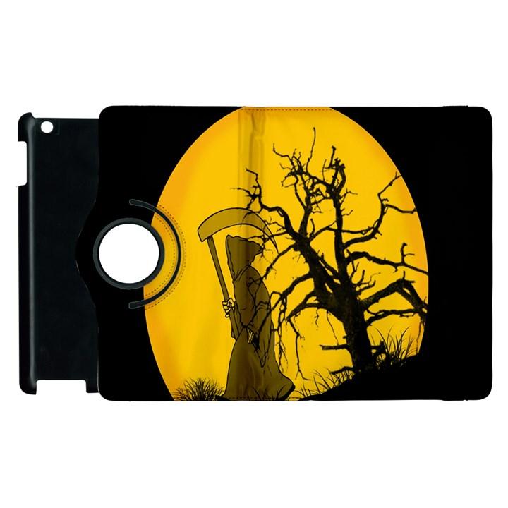 Death Haloween Background Card Apple iPad 3/4 Flip 360 Case