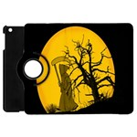 Death Haloween Background Card Apple iPad Mini Flip 360 Case Front