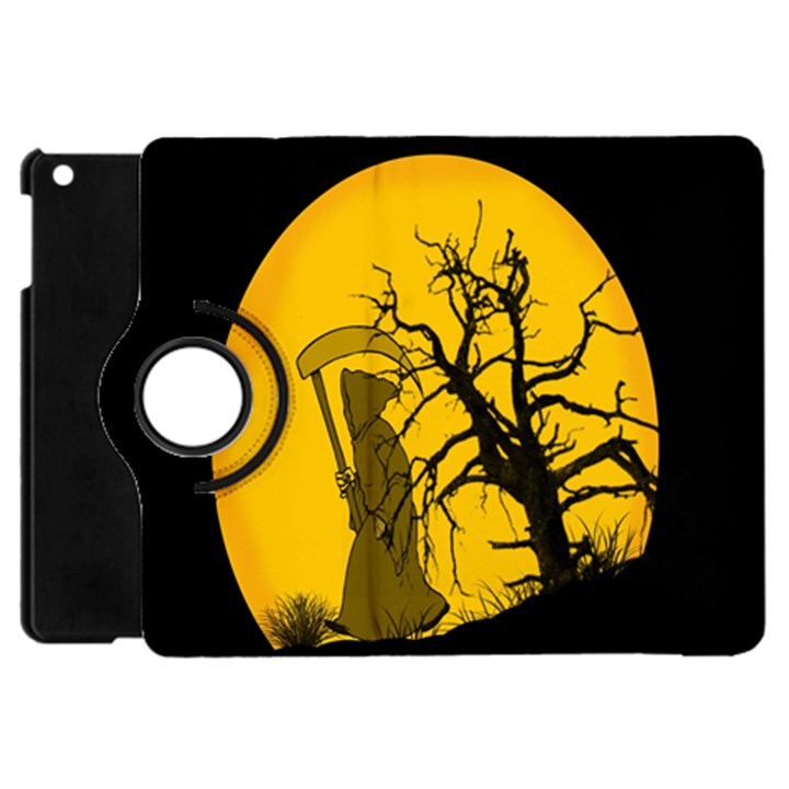 Death Haloween Background Card Apple iPad Mini Flip 360 Case