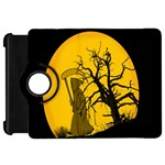 Death Haloween Background Card Kindle Fire HD Flip 360 Case Front