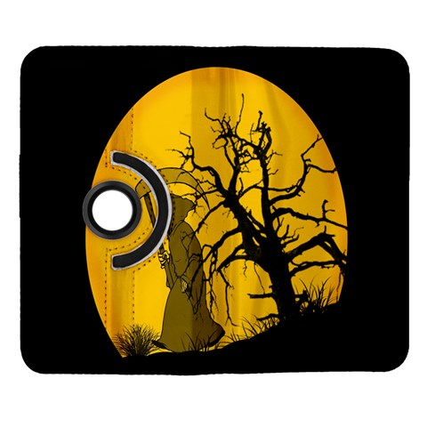 Death Haloween Background Card Samsung Galaxy Note II Flip 360 Case