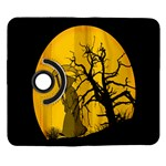 Death Haloween Background Card Samsung Galaxy Note II Flip 360 Case Front