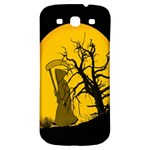Death Haloween Background Card Samsung Galaxy S3 S III Classic Hardshell Back Case Front