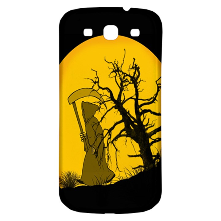 Death Haloween Background Card Samsung Galaxy S3 S III Classic Hardshell Back Case