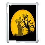 Death Haloween Background Card Apple iPad 3/4 Case (White) Front