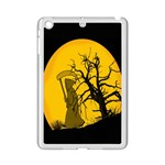 Death Haloween Background Card iPad Mini 2 Enamel Coated Cases Front