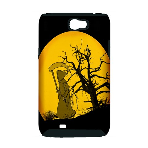 Death Haloween Background Card Samsung Galaxy Note 2 Hardshell Case (PC+Silicone)