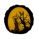Death Haloween Background Card Standard 15  Premium Round Cushions Front