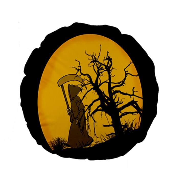 Death Haloween Background Card Standard 15  Premium Round Cushions