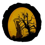 Death Haloween Background Card Large 18  Premium Round Cushions Front