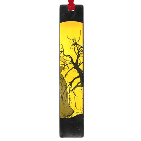 Death Haloween Background Card Large Book Marks