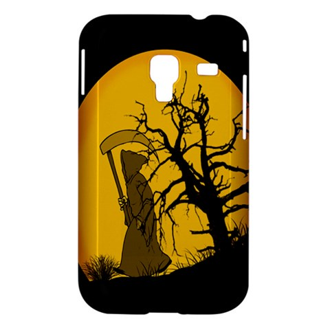 Death Haloween Background Card Samsung Galaxy Ace Plus S7500 Hardshell Case