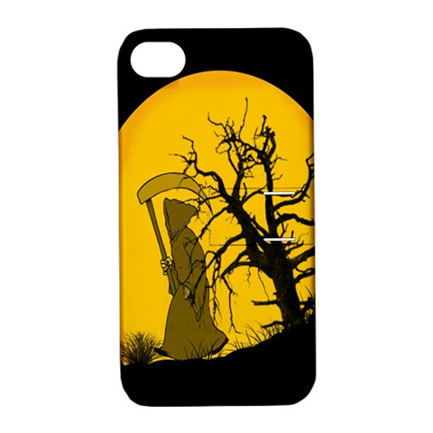 Death Haloween Background Card Apple iPhone 4/4S Hardshell Case with Stand