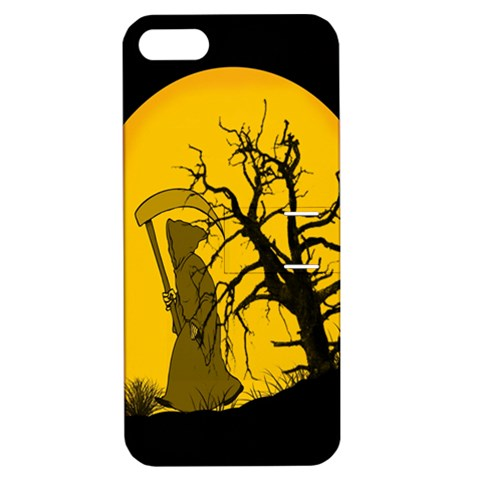 Death Haloween Background Card Apple iPhone 5 Hardshell Case with Stand