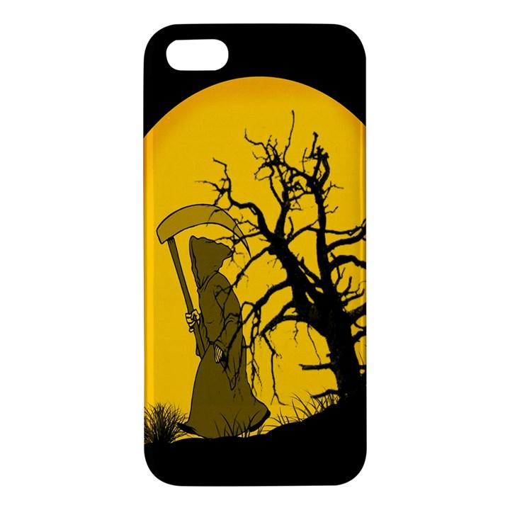 Death Haloween Background Card Apple iPhone 5 Premium Hardshell Case