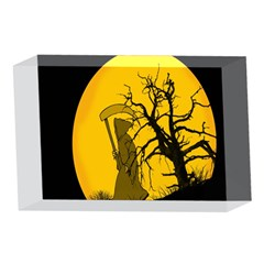 Death Haloween Background Card 4 x 6  Acrylic Photo Blocks