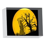 Death Haloween Background Card 5 x 7  Acrylic Photo Blocks Front