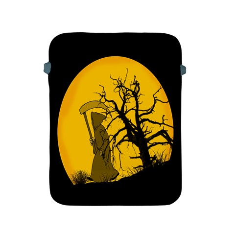 Death Haloween Background Card Apple iPad 2/3/4 Protective Soft Cases