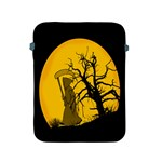 Death Haloween Background Card Apple iPad 2/3/4 Protective Soft Cases Front