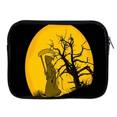 Death Haloween Background Card Apple iPad 2/3/4 Zipper Cases