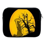 Death Haloween Background Card Apple iPad 2/3/4 Zipper Cases Front