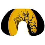 Death Haloween Background Card Travel Neck Pillows Back