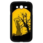 Death Haloween Background Card Samsung Galaxy Grand DUOS I9082 Case (Black) Front