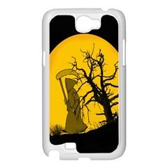 Death Haloween Background Card Samsung Galaxy Note 2 Case (White)