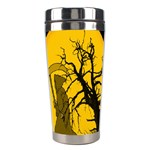 Death Haloween Background Card Stainless Steel Travel Tumblers Center