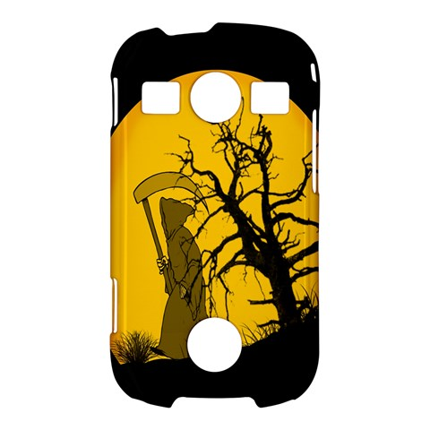 Death Haloween Background Card Samsung Galaxy S7710 Xcover 2 Hardshell Case
