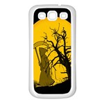 Death Haloween Background Card Samsung Galaxy S3 Back Case (White) Front