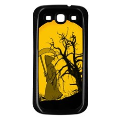 Death Haloween Background Card Samsung Galaxy S3 Back Case (Black)
