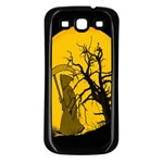 Death Haloween Background Card Samsung Galaxy S3 Back Case (Black) Front