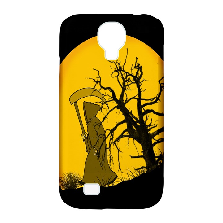 Death Haloween Background Card Samsung Galaxy S4 Classic Hardshell Case (PC+Silicone)