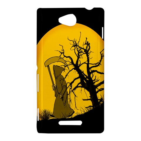 Death Haloween Background Card Sony Xperia C (S39H)